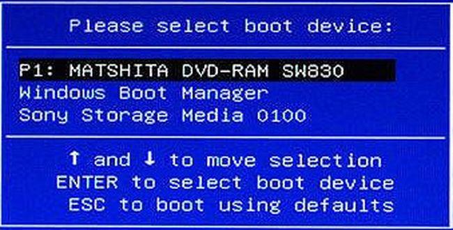 boot menu в ноутбуках
